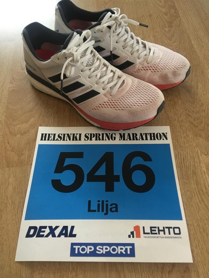 Juoksukunnon tarkistus Helsinki SpringMarathonilla
